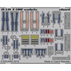 eduard 49540 Seatbelts F-100F 1/48 Cinturones de seguridad en fotograbado coloreado para el F-100F