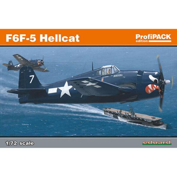 eduard 7077 F6F-5 Helcat ProfiPACK 1/72 Kit en plástico para montar y pintar. Incluye fotograbados y mascarillas.