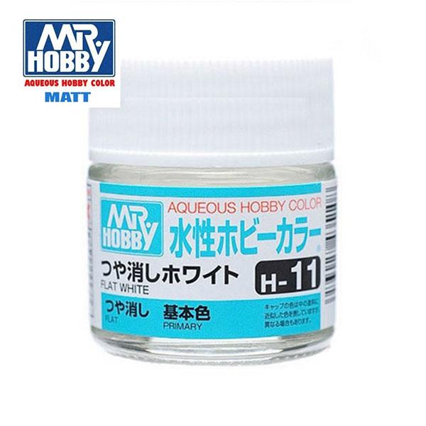 gunze sangyo mr hobby aqueous color H011 Flat White - Blanco Mate