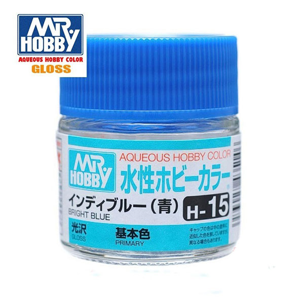 gunze sangyo mr hobby aqueous- color H015 Gloss Bright Blue - Azul Luminoso Brillo 10ml