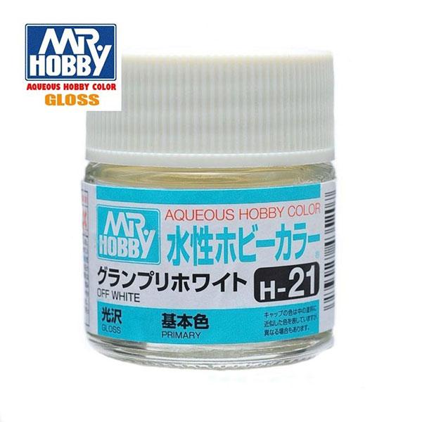 gunze sangyo mr hobby aqueous color H021 Gloss Off White - Blanco Hueso Brillo 10ml