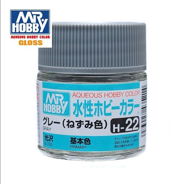 gunze sangyo mr hobby aqueous color H022 Gloss Gray - Gris Brillo 10ml