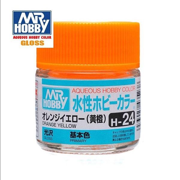 gunze sangyo mr hobby aqueous color H024 Gloss Orange Yellow Naranja Luminoso Brillo 10ml