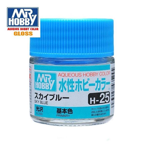 gunze sangyo mr hobby aqueous color H025 Gloss Sky Blue - Azul Celeste Brillo 10ml