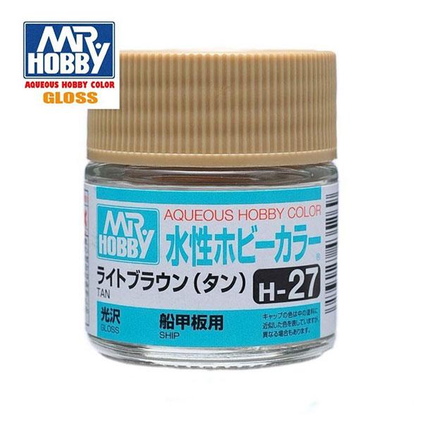 gunze sangyo mr hobby aqueous color H027 Gloss Tan - Marrón Tostado Brillo 10ml