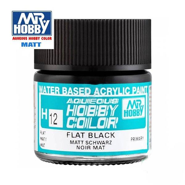 gunze sangyo mrhobby aqueous color H012 Flat Black - Negro Mate 10ml