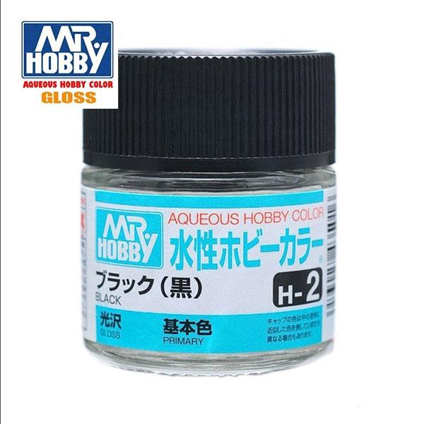 Mr Hobby Aqueous Color H002 Gloss Black - Negro Brillo 10ml
