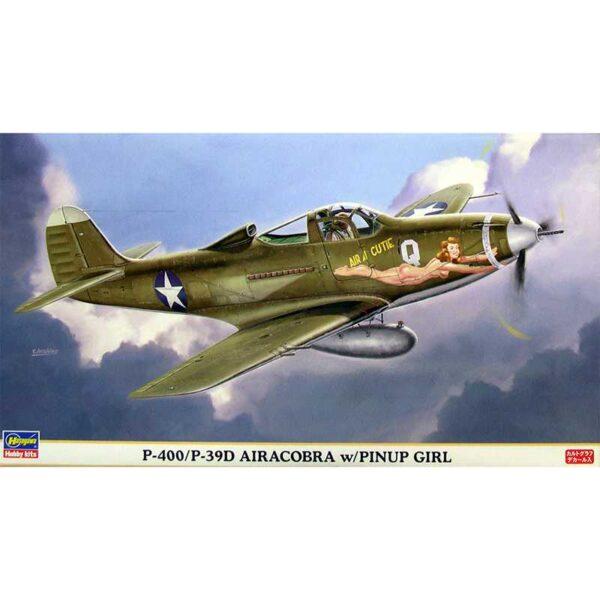 hasegawa 09738 P-400 P-39D Airacobra Pinup Girl