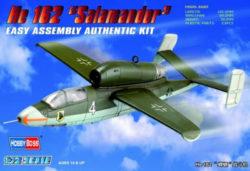 hobby boss 80239 Heinkel He162 Salamander 1/72 Kit en plástico para montar y pintar. Hoja de calcas con 2 opciones de decoración: Alemania y USSR