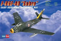 F86F-40 Sabre Kit en plástico para montar y pintar. escala 1/72 Hobby Boss 80259