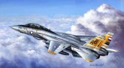 hobby boss 80366 Grumman F-14A Tomcat 1/48 Kit en plástico para montar y pintar. Incluye piezas en fotograbado y motores detallados.