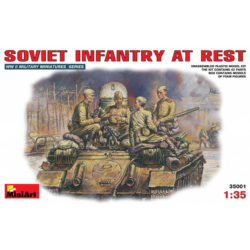 miniart 35001 Soviet infantry at rest WWII figuras escala 1/35