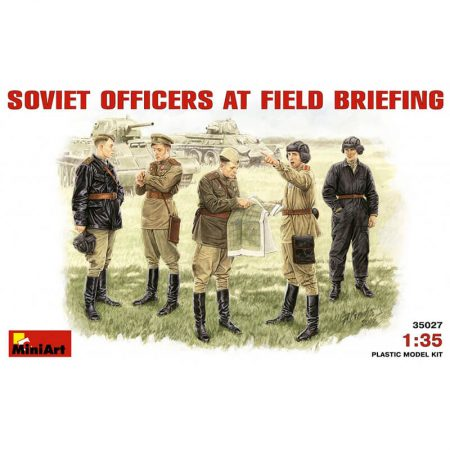 miniart 35027 Soviet Officers at Fied Briefing figuras escala 1/35