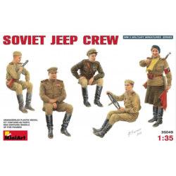 miniart 35049 Soviet Jeep Crew WWII figuras escala 1/35