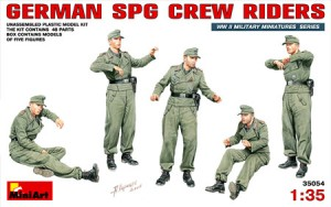 miniart 35054 German SPG Crew Riders escala 1/35
