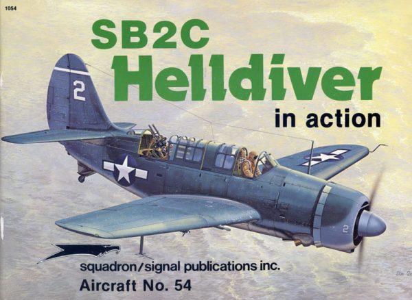 sq1054 SB2C Helldiver in action