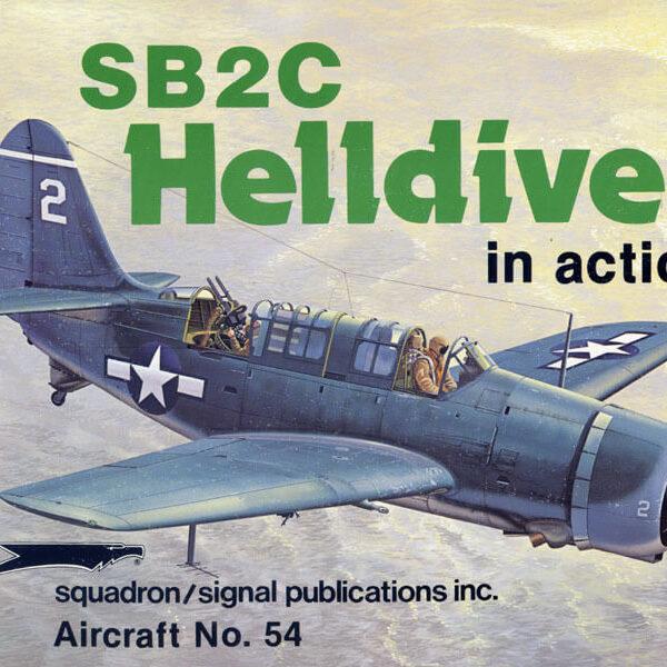 sq1054 SB2C Helldiver in action
