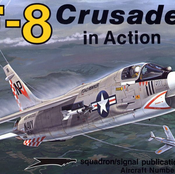 sq1070 F-8 Crusader in action