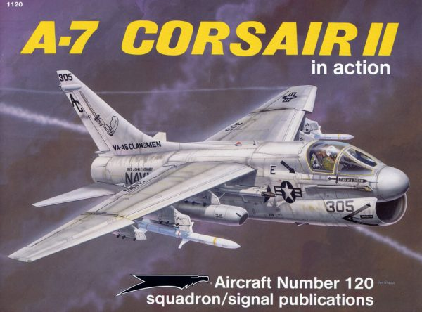 sq1120 A-7 Corsair II in action