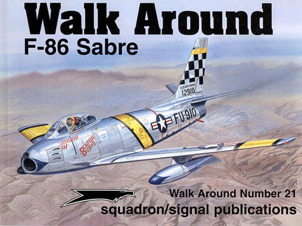 5521 Walk Arround: F-86 Sabre Estudio fotográfico en detalle del F-86 Sabre,incluye diagramas,perfiles a color y planos.
