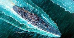 trumpeter 05749 USS Vincennes CA-44 1/700 Kit en plástico para montar y pintar. Permite la opción de exponerlo con el casco completo o por la linea de flotación (Waterline).