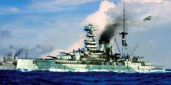 trumpeter 05798 HMS Barham 1941 1/700 Kit en plástico para montar y pintar. Incluye piezas en fotograbado. Opción de montarlo con casco completo o por línea de flotación (Waterline).