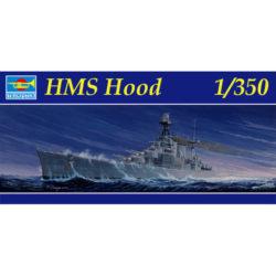 trumpeter 05302 HMS Hood 1/350 Kit en plástico para montar y pintar. Casco completo o por linea de flotación. Incluye piezas en fotograbado.