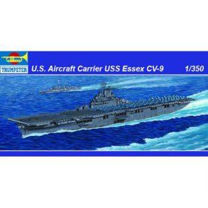 trumpeter 05602 U.S. Aircraft Carrier USS Essex CV-9 1/350 Kit en plástico para montar y pintar. Incluye piezas en fotograbado.