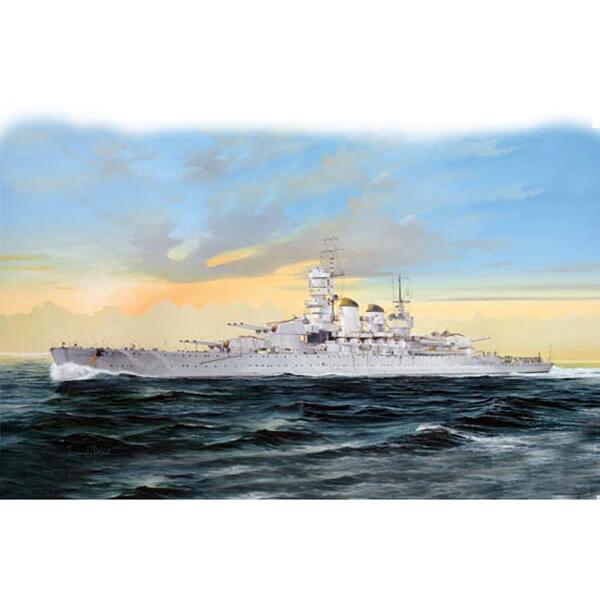 trumpeter 05778 Italian Navy Battleship RN Littorio 1/700 Kit en plástico para montar y pintar. Incluye fotograbados.