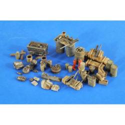 verlinden productions 2586 USAAF Airbase accesories & 3 figures Kit en resina para montar y pintar.