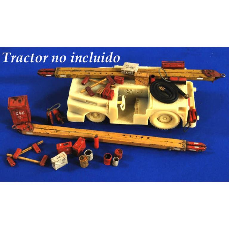 verlinden production 2702 Carrier Deck Accesories Kit en resina para montar y pintar. Tracto no incluido.
