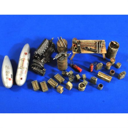 verlinden productions 2704 USAAF WWII Service Area Accesories Kit en resina para montar y pintar.