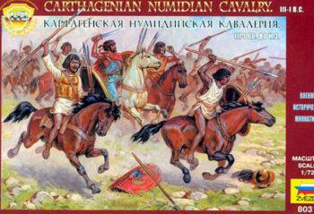 zvezda 8031 Carthagenian Numidian Cavalry III-I b.c. escala 1/72