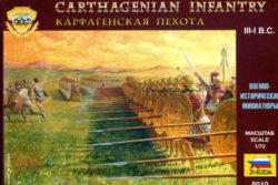 zvezda 8010 Carthagenian Infantry III-I B.A. escala 1/72