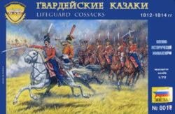 zvezda 8018 Lifeguard Cossacks 1812-1814 1/72 Kit en plástico para montar y pintar. Incluye 15 figuras a caballo en 7 posturas distintas.
