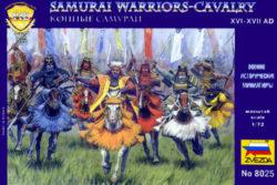 zvezda 8025 Samurai Warriors Cavalry XVI-XVII Kit en plástico para montar y pintar. Incluye 17 figuras a caballo en 7 posturas distintas.