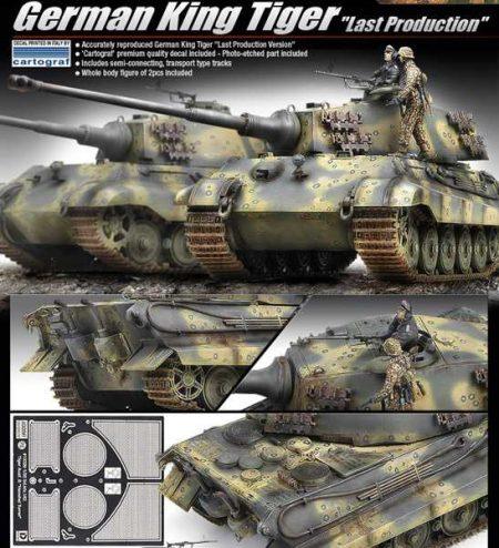 ACADEMY 13229 German King Tiger Last production maqueta escala 1/35