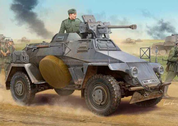 HOBBY BOSS 83813 Le.Pz.Sp.Wg Sd.Kfz.221 Leichter Panzerspahwagen Early maqueta escala 1/35