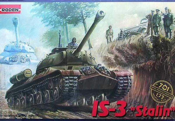 RODEN 701 IS-3 Stalin Kit en plástico para montar y pintar. Escala 1/72