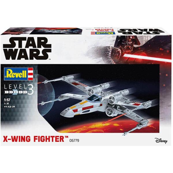 Revell 06779 Star Wars X-Wing Fighter 1/57 Kit de fácil montaje en plástico -Easykit- Las piezas vienen prepintadas y se montan por presión.