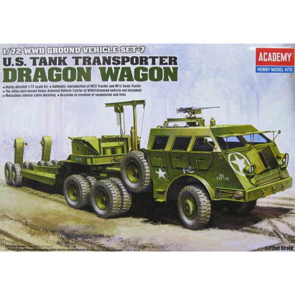 academy 13409 US Tank Transporter Dragon Wagon Kit en plástico para montar y pintar. Escala 1/72