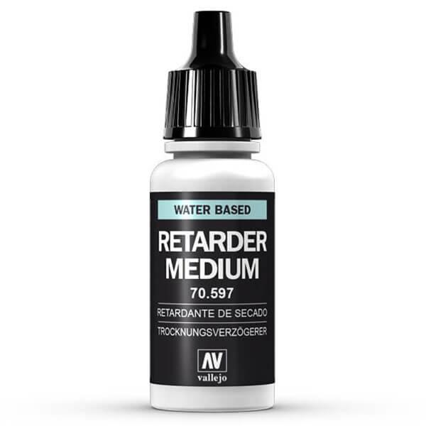 mc-196 Retardante-Drying retarder 70.597 17ml Para retrasar el tiempo de secado de Model Color y otros colores acrílicos, se emplea Medium Retardante mezclando unas gotas con los colores.