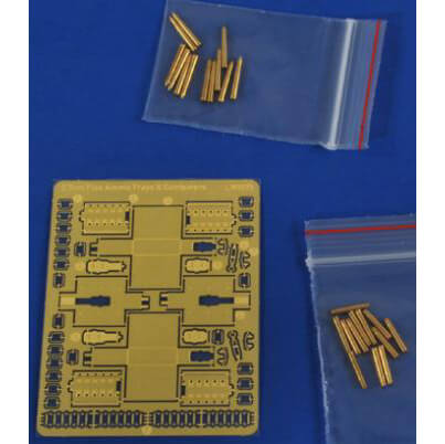 alliance model works lw3573 3,7cm Flak 36/37/43 Amunition, containers & ammo trays Munición y casquillos torneados en metal y peines de munición en fotograbado.