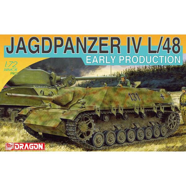 dragon 7276 Jagdpanzer IV L/48 Early Production Kit en plástico para montar y pintar. Incluye fotograbados.