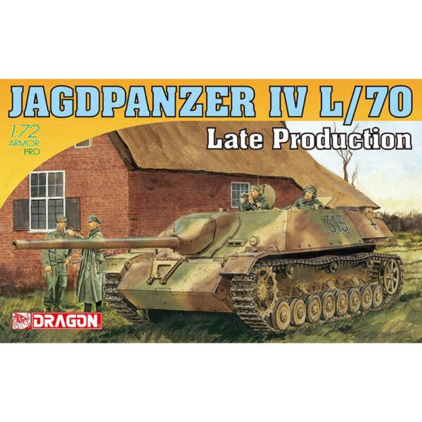 dragon 7293 Jagdpanzer IV L/70 Late Production 1/72 Kit en plástico para montar y pintar. Hoja de calcas con 4 decoraciones.