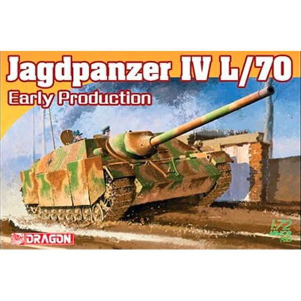 dragon 7307 Jagdpanzer IV L/70 Early Production 1/72 Kit en plástico para montar y pintar. Incluye piezas en fotograbado.
