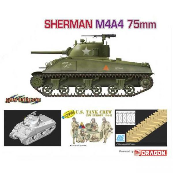 dragon 9102 Sherman M4A4 75mm