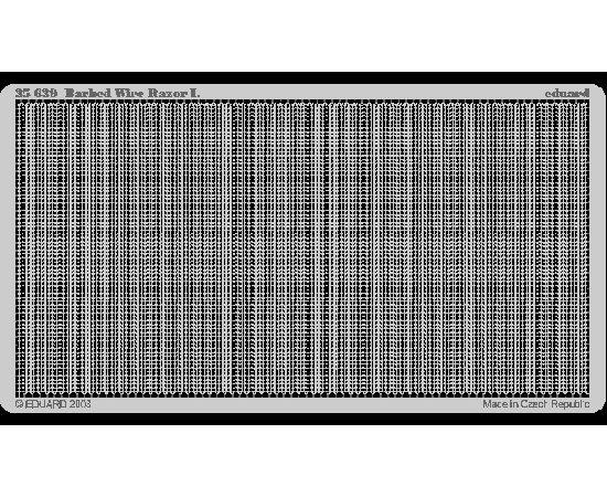 eduard 35639 Alambre de espino Razor I Barbed Wire Razor I (8 metros) Alambre de espino en metal fotograbado. Totalmente extendido alcanza los 8 mtr de longitud. Escala 1/35