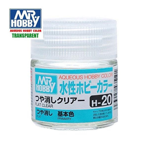 gunze sangyo mr hobby aqueous color H020 Flat Clear-Barniz mate 10ml