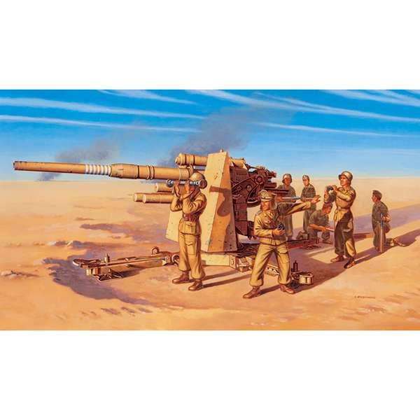 italeri 7512 8,8cm Flak 37 AA gun with crew